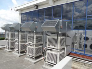 EcoCooling energy efficient data centre cooling - direct evaporative/adiabatic cooling modules