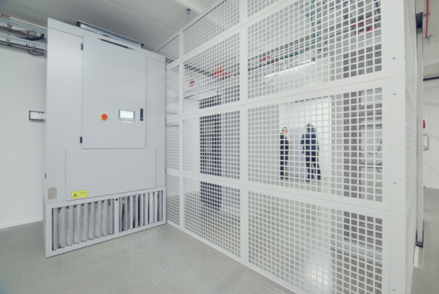 Internal evaporative cooler for data centres