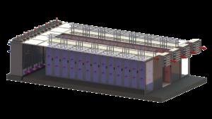 Internal evaporatve cooler - energy efficient data centre cooling
