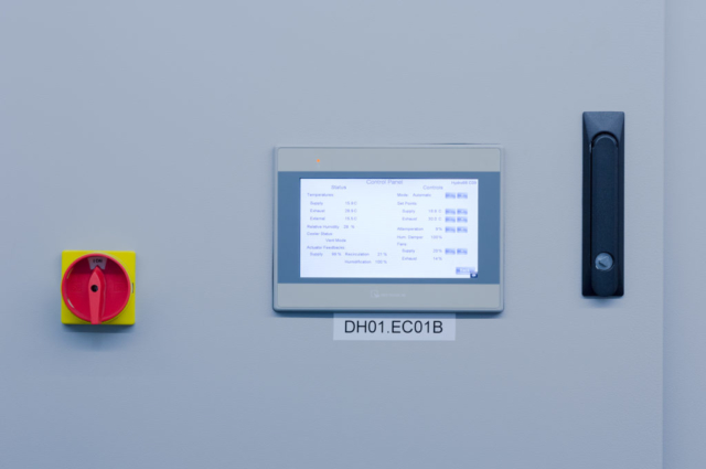 EcoCooling's nordic range comes with a sleek touchscreen control panel